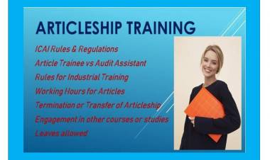 Articleship Training ICAI Norms & Guidelines Summary
