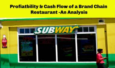 Do you own a Restaurant Chain, Let's understand the Cash Flow & Profitability?
