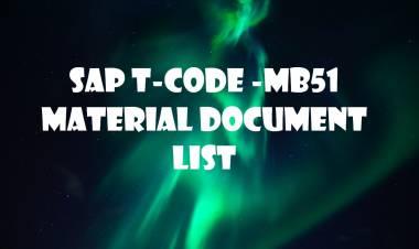 SAP T-code MB51-  Material Document List